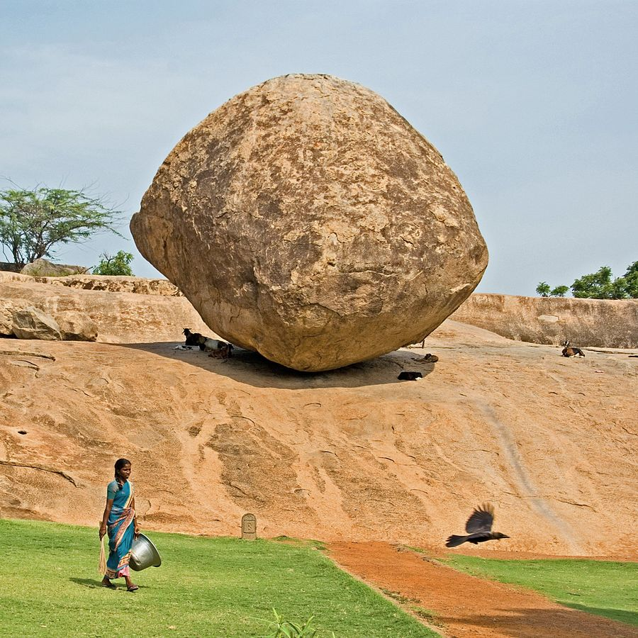 Weird But True: The mystery of the balancing rock of Mahabalipuram